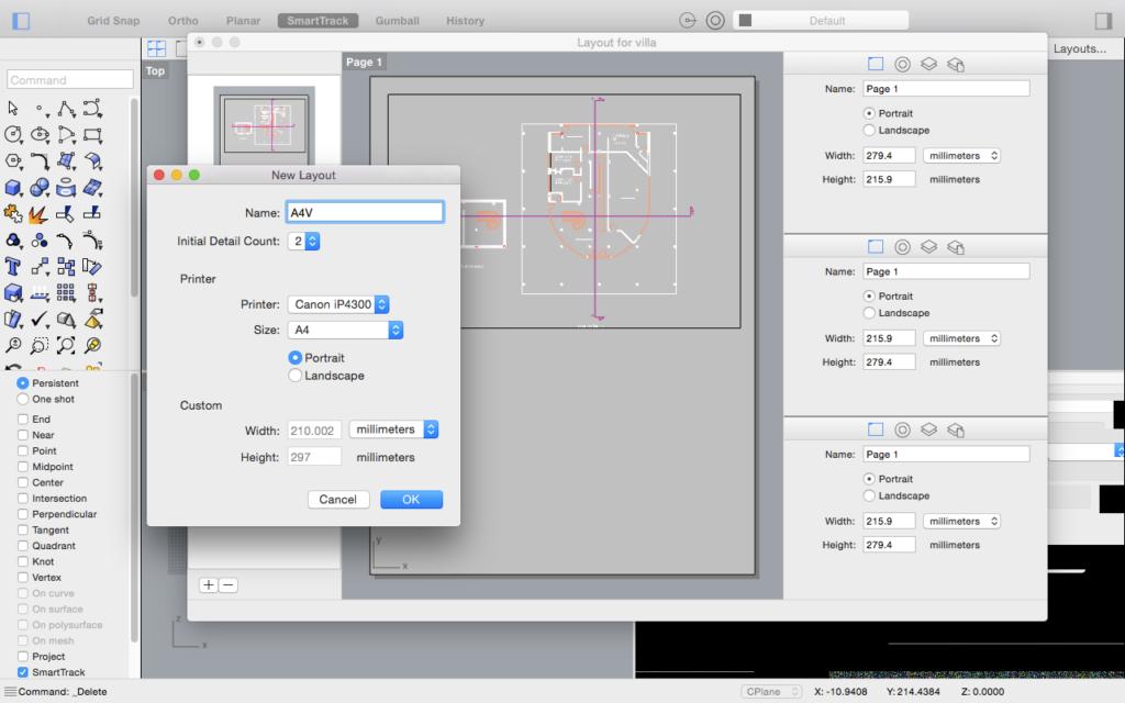 Rhinoceros Per Mac 5.2 - Layout